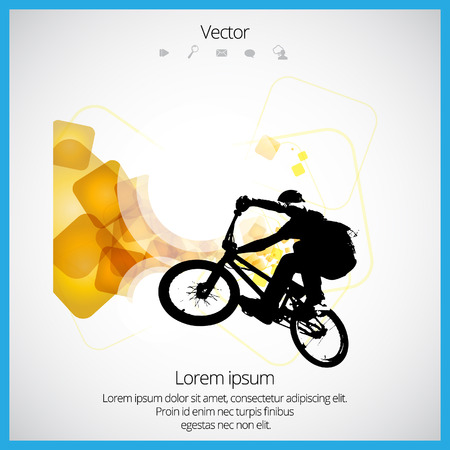 Tricks on the BMX bike Vector