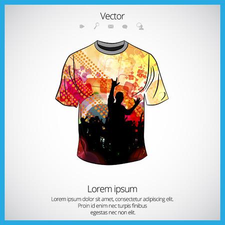 transparent dress: Vector. Man t-shirt design Illustration