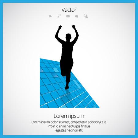 Sport background. Runner, vector
