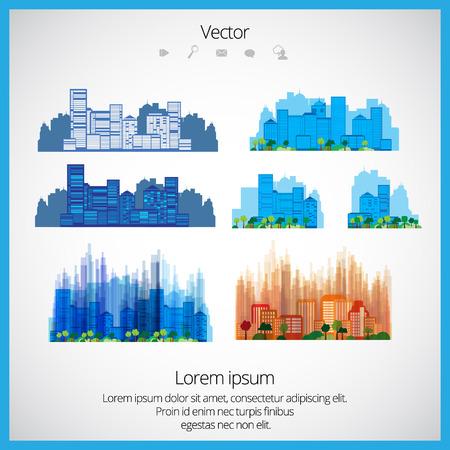 City landscapes Illustration