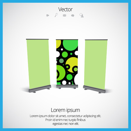 banner stand: Roll up banner stand design. Vector.