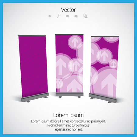 banner stand: Roll up banner stand design