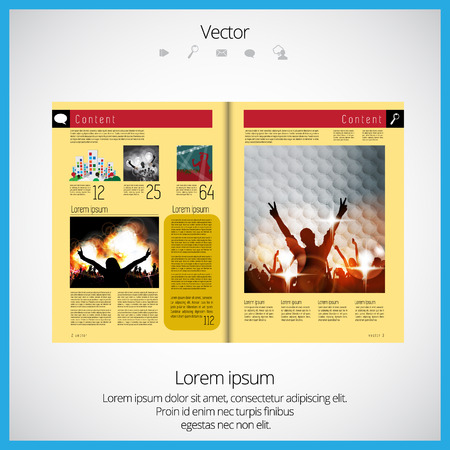 magazine: Layout of magazine