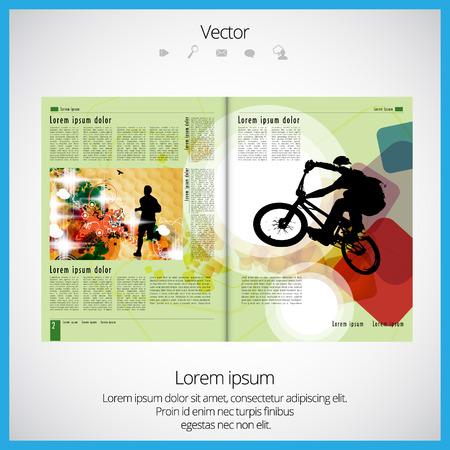 Layout of magazine