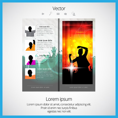 whitern: Layout magazine, vector