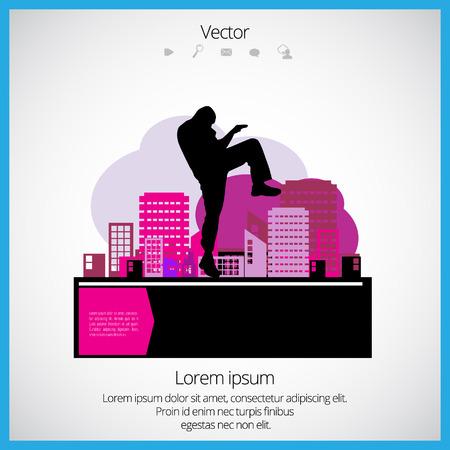 kwon: Karate illustration Illustration