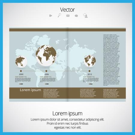 magazine layout: Magazine Layout Vector