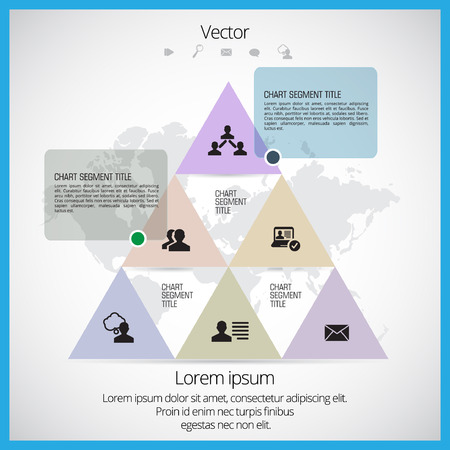 annual report: Infographic for annual report. Vector