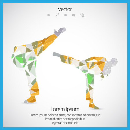Illustration of karate. Vector Reklamní fotografie - 37925593