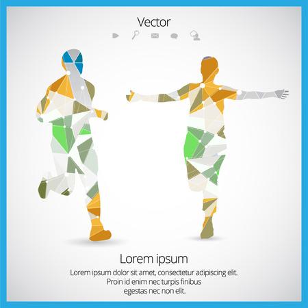 Sport, runner, vector