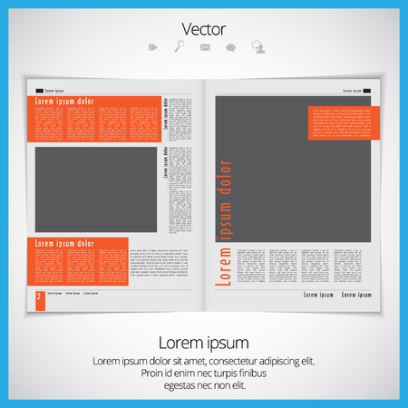 open magazine: Layout magazine, vector