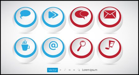 circumference: Vector icon set Illustration