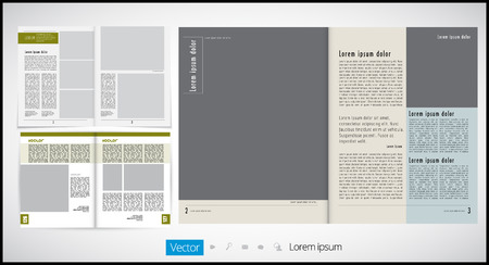 advertising column: Magazine Layout Vector