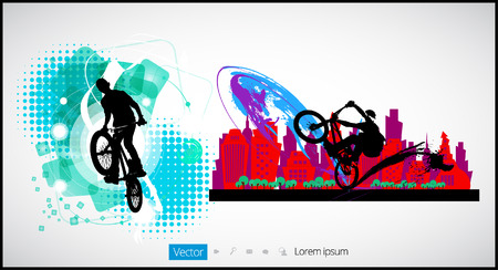 Sport road bike riders bicycle. Vector