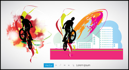 mtb: Extreme rider. Vector