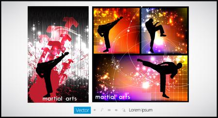 kyokushin: Karate illustration, vector