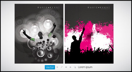 party down: Music event. Vector