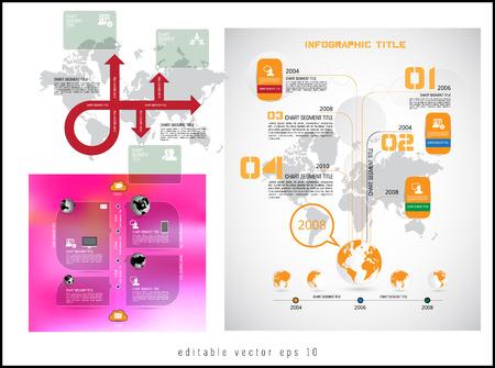 Infographic for annual report. Vector Ilustração Vetorial