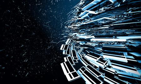 Blue explosion background photo