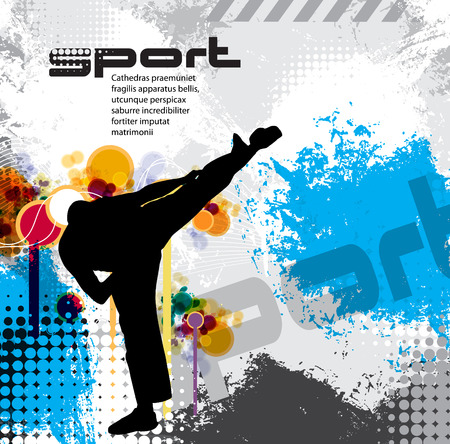 salud y deporte: Karate ilustraci�n