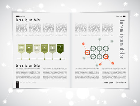 the layout: Layout magazine. Editable vector Illustration