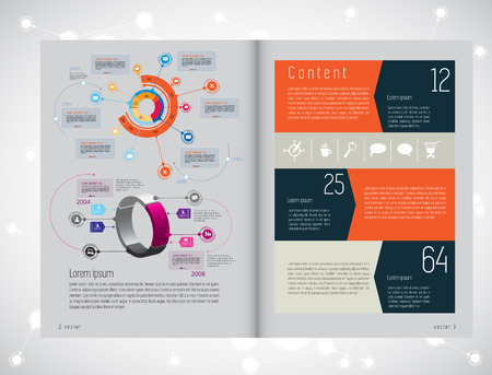 lay-out: Layout magazine. Editable vector Stock Illustratie
