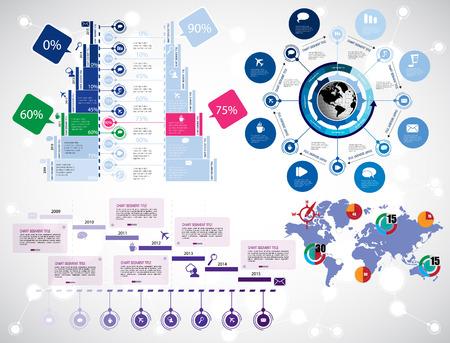 Timeline Infographics. Vector design template.