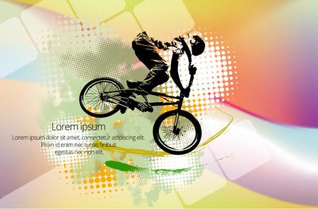 Vector de imagen de ciclista BMX