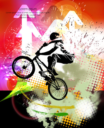 mtb: Freestyle young male rider