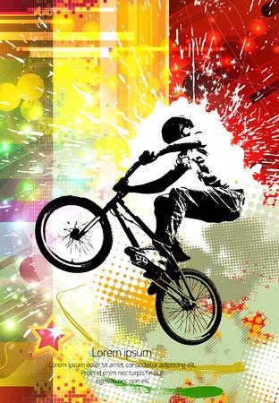 niños en bicicleta: Freestyle masculino joven jinete