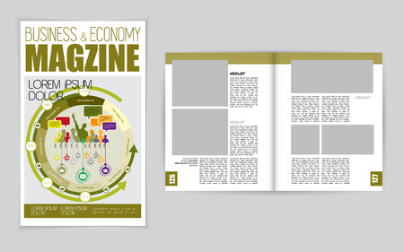 clean background: Layout magazine. Editable vector Illustration
