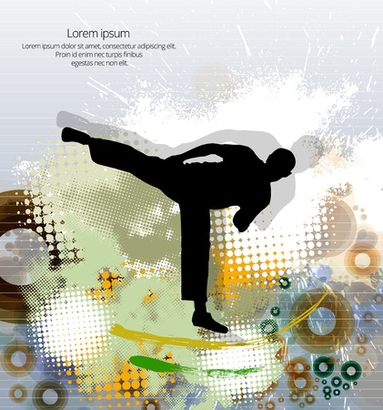 karate: Karate. Vector illustration