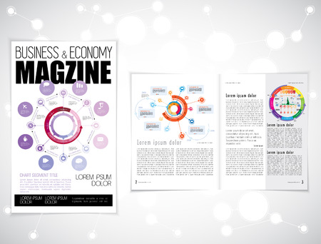the layout: Layout magazine, vector