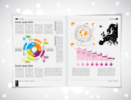 magazine: Layout magazine, vector