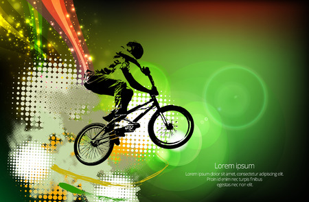 dirt bike: Sport illustration