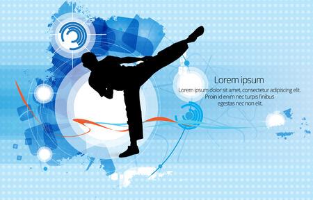 karate: Karate illustration Illustration