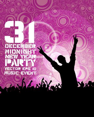 gente bailando: Fondo del evento de m�sica Vectores