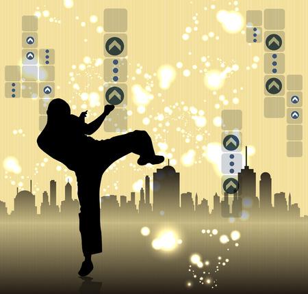 kyokushin: Illustration of karate. Vector