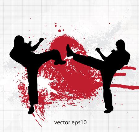 karate: Illustration of karate. Vector
