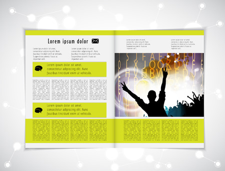 lay-out: Magazine lay-out vector