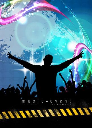 Music event background. Vector eps10 illustration. illustration