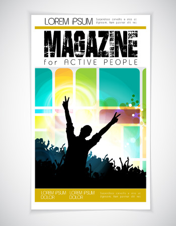 the layout: Vector magazine cover layout