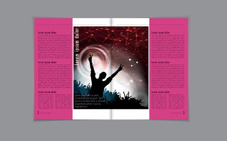 Magazine layout vector photo