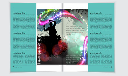 lay-out: Magazine layout vector Stockfoto