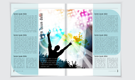magazine: Magazine layout vector Stock Photo