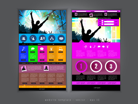 aplication: Website design template vector Stock Photo