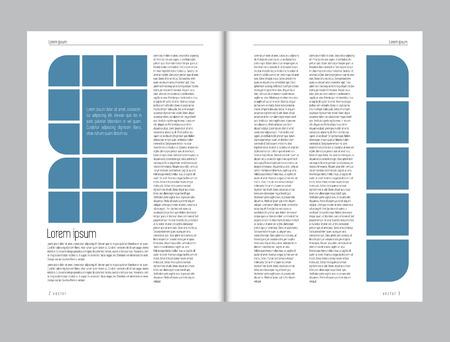 Magazine layout vector Banque d'images