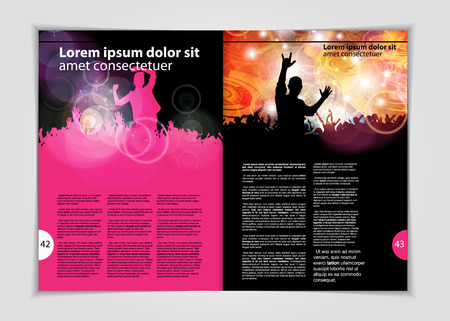 book background: Magazine layout, vector