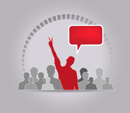 business communication: Concept of business social networking and communication Stock Photo