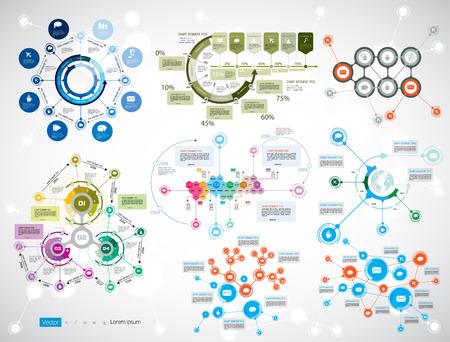 cronogramas: Infografía línea de tiempo. Vector plantilla de diseño.